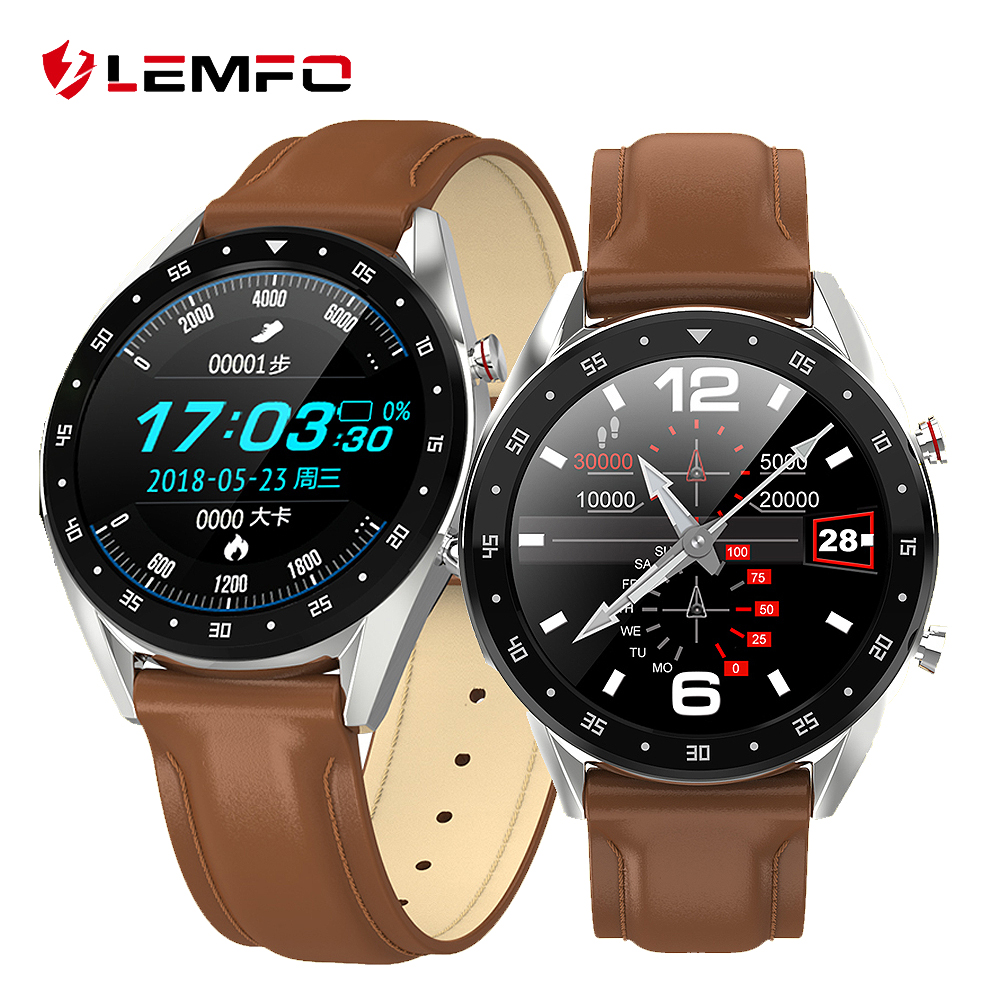 LEMFO Smart Watch Men Full Round Touch Screen PPG + ECG Watch Bluetooth Call IP68 Waterproof Strap Replaceable for Android IOS|Smart Watches| |  - AliExpress