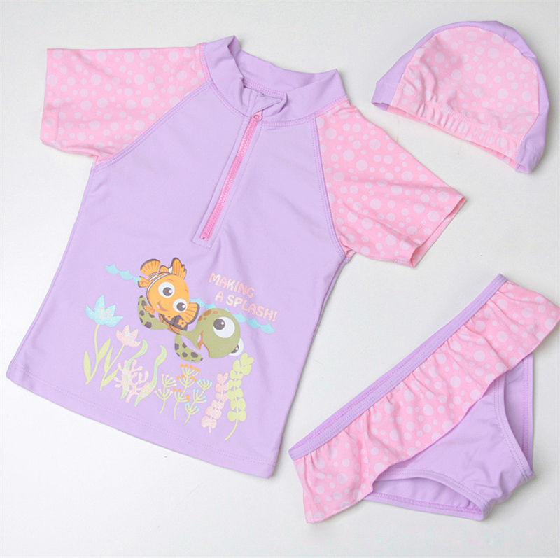 Girl/'s Toddler Bathing Suit One /& Two Piece Toddler 2T 4T Rash Guard Shirt