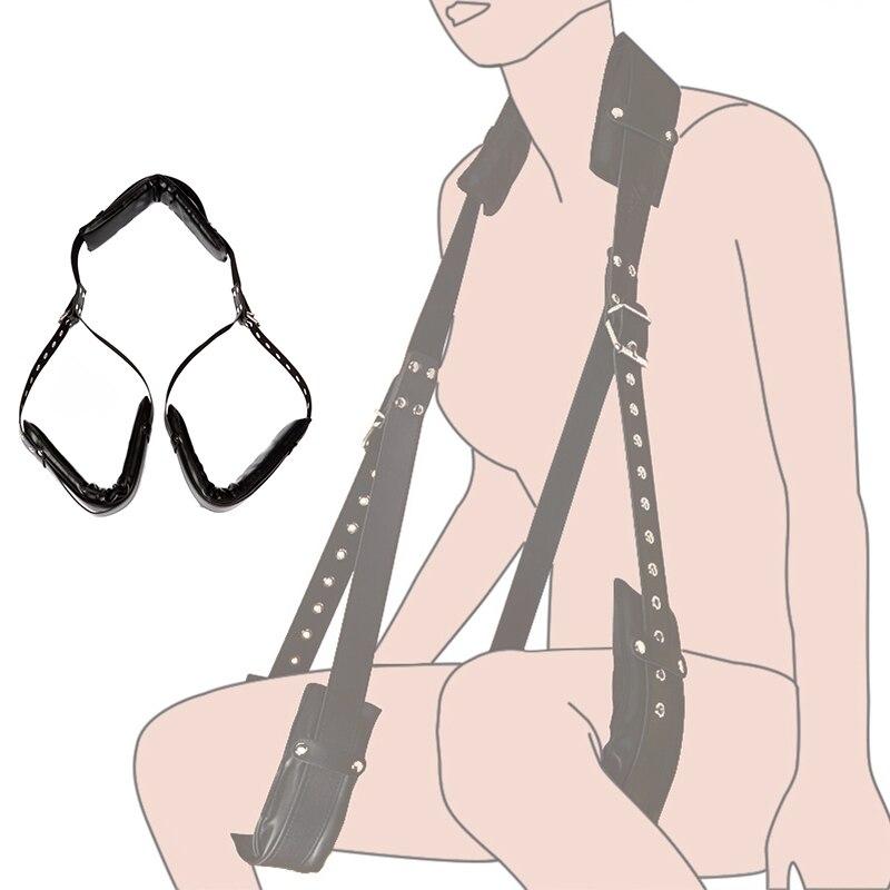Fetish Sex Accessories Black Ankle Cuffs BDSM Bondage Restraints Open Legs Slave Adult Games Erotic Sex Toys For Couple Sex Shop