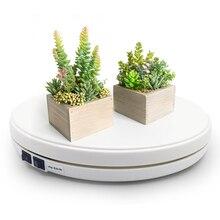 לבן 25cm LED תמונה 360 תואר חשמלי מסתובב פטיפון מסתובב תצוגת Stand עבור צילום תכשיטי שעון דיגיטלי מוצר