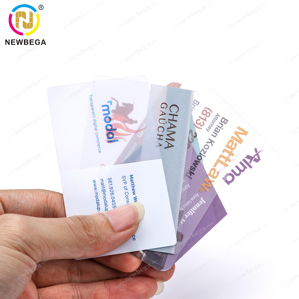 10PCS Printable PVC Plastic Clear Transparent Card With Customized Logo .Free Home Delivery