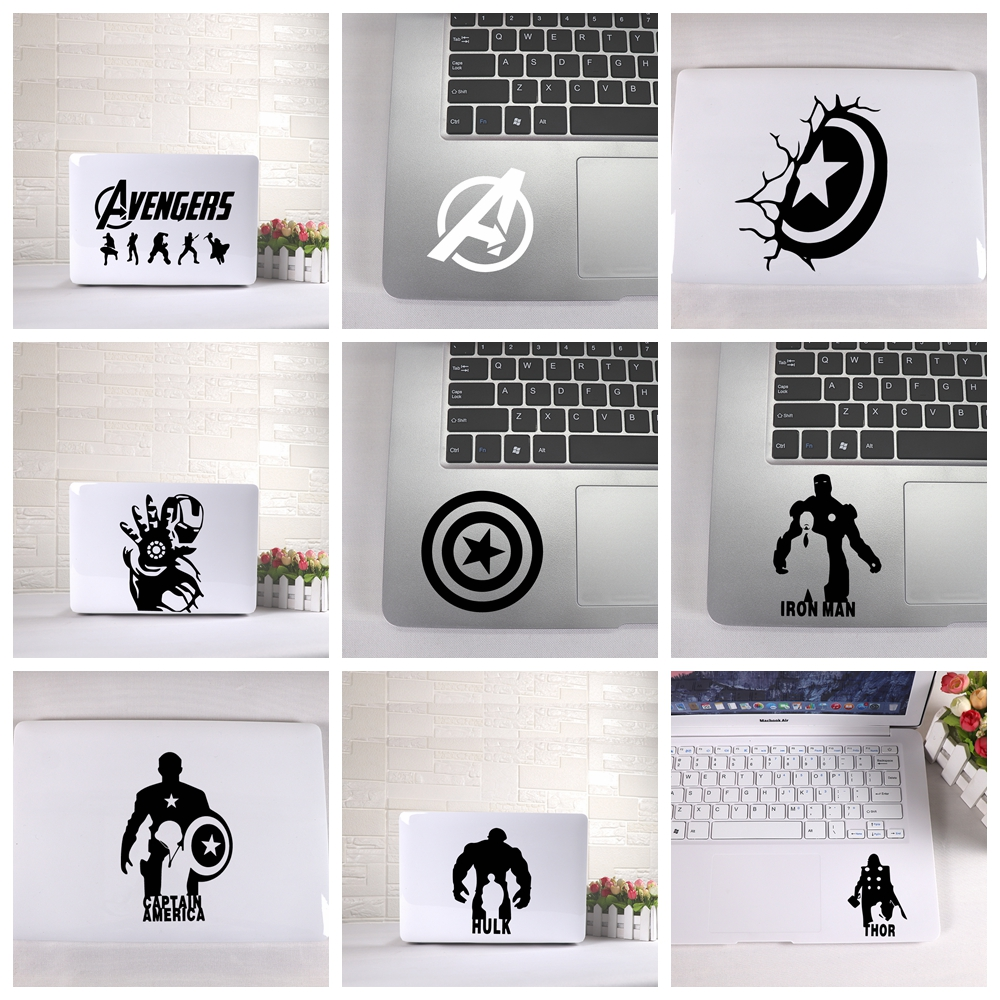Laptop Sticker Avengers Captain America Fun Mickey Mouse Laptop stickers with detachable waterproof laptop skin decoration