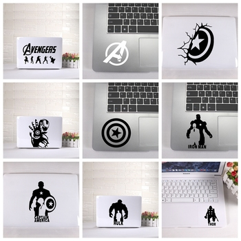 Laptop Sticker Avengers Captain America Fun Mickey Mouse stickers with detachable waterproof laptop skin decoration