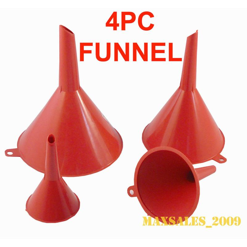 2 Pieces Automotive Fuel Funnel Flexible Plastic Funnel Set with Wide Spout and Filter for Car Oil Changing