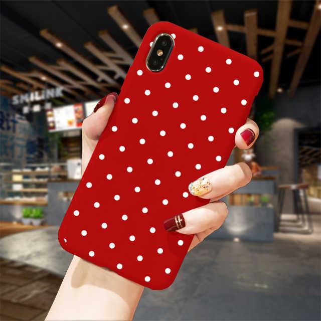 Funda para iPhone XS Max XR X 8 7 6 6S Plus funda suave TPU funda roja árbol de Navidad Capa Fundas para iPhoneXS 11Pro Snowflake