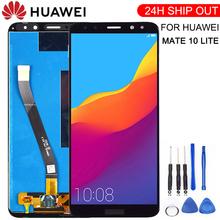 Nowy dla Huawei Mate 10 Lite wyświetlacz LCD + ekran dotykowy ekran dotykowy Panel ze szkła montaż + ramka do Mate 10 Lite tanie tanio NONE CN (pochodzenie) Pojemnościowy ekran 2160*1080 3 For Huawei Mate 10 Lite LCD i ekran dotykowy Digitizer