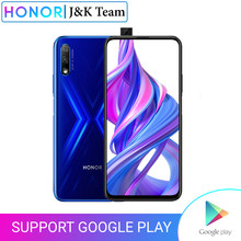 Honor 9X Smartphone Huawei Kirin 810 cep telefonu 4000mAh pil 6.59 inç 7nm 48MP otomatik pop up kamera Google oyun(China)