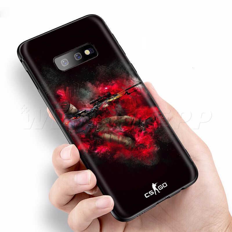 Webbedepp CS IR Gun Game Case para Samsung Galaxy S7 S8 S9 S10 Plus Nota Borda 10 8 9 A10 A20 A30 A40 A50 A60 A70