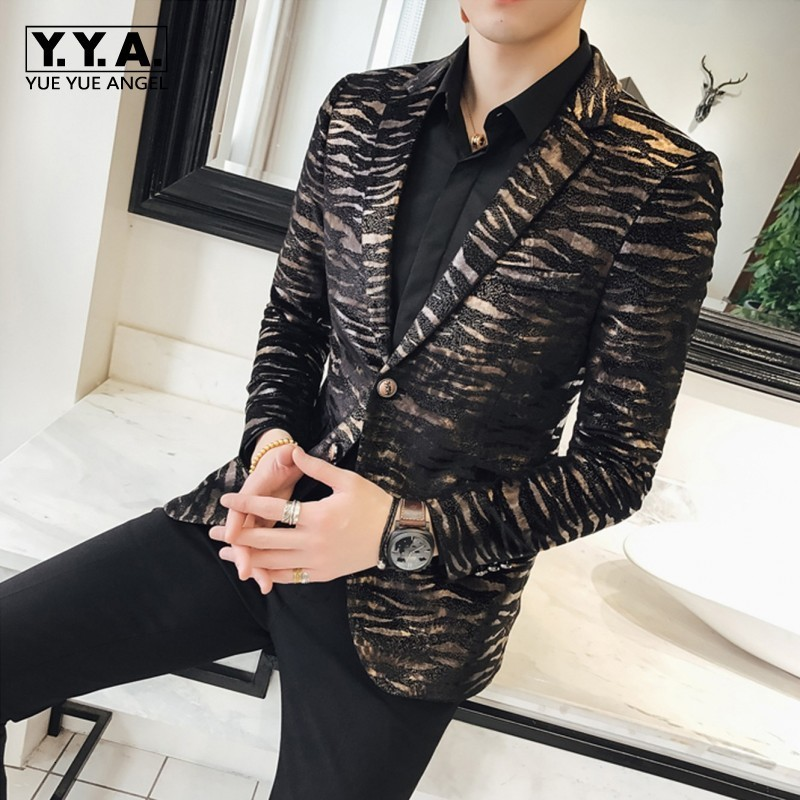 High Quality Luxury Male Blazer Fashion Single Breasted Casual Men Long Sleeve Blazer Slim Fit Mens Party Blazers Plus Size