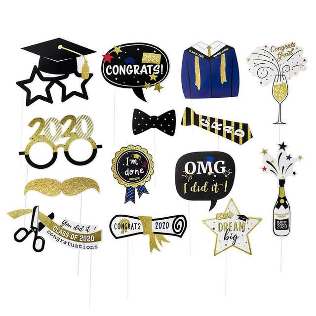 Graduation Party Photo Booth Props & Decorations -Class of 2020