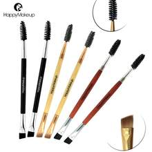 Sikat Alis Brush Single Double Screw Sikat Bulu Mata Bevel Riasan Sikat(China)