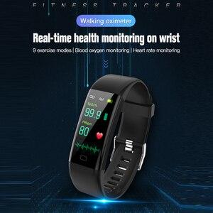 Image 2 - חדש חכם שעון גשש כושר גוף טמפרטורת צמיד שעון לב קצב דם חמצן לחץ IP67 עמיד למים חכם צמיד