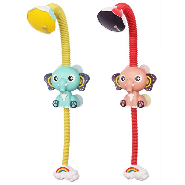 Bath Toys Baby Water Game Elephant Model Faucet Shower Electric Water Spray Toy For Kids Swimming Bathroom Baby Toys 2
