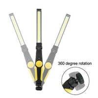 2000 Lumen Taschenlampe COB LED Arbeits Licht Notfall Cob Lampe USB Aufladbare Taschenlampe Magnetische Laterne Für Camping Auto Reparatur