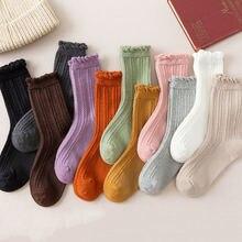 Носки с рюшечками для Женская kawaii calcetines de la mujer