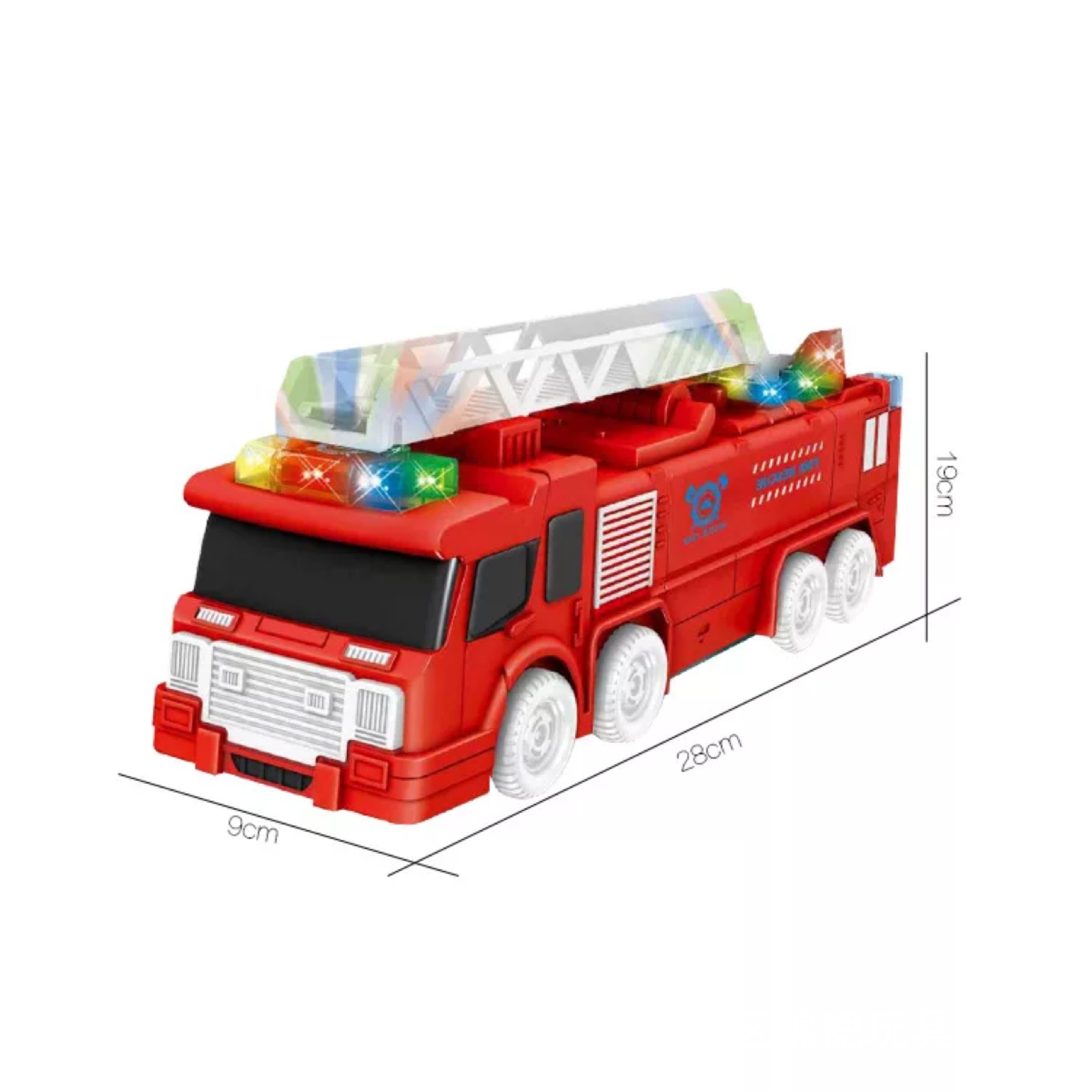Electric Transformation Fire Truck Rescue Man Deformation Robot Universal Light Included Light Music Children'S Educational Toy