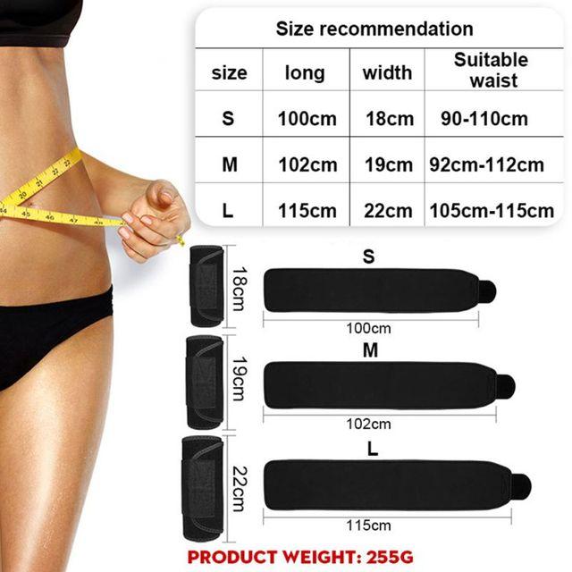 Men Women Tummy Waist Traine Sweating Corset Fat Burner  Belt Slimming Fitness Corset Belt hot. 2