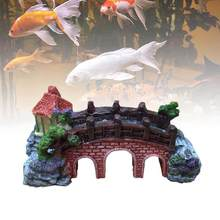 Fish Bowl Landscaping Ornamental Bridge Rockery Simulation Resin Aquarium Decoration(China)