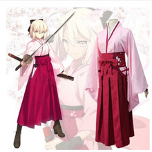 HISTOYE The Comic Cartoon Fate Okita Souji Costume Ying Saber Cosplay Clothing for Women Halloween Costume Party game fate grand order cosplay costumes okita souji cosplay costume kimono halloween carnival party anime women cosplay costume
