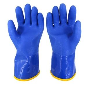 Image 3 -  20 Graden Mannen Werk Thermische Handschoenen Winter Bescherming Pvc Waterdichte Antislip Oilproof Slijtvaste Koude Opslag vissers