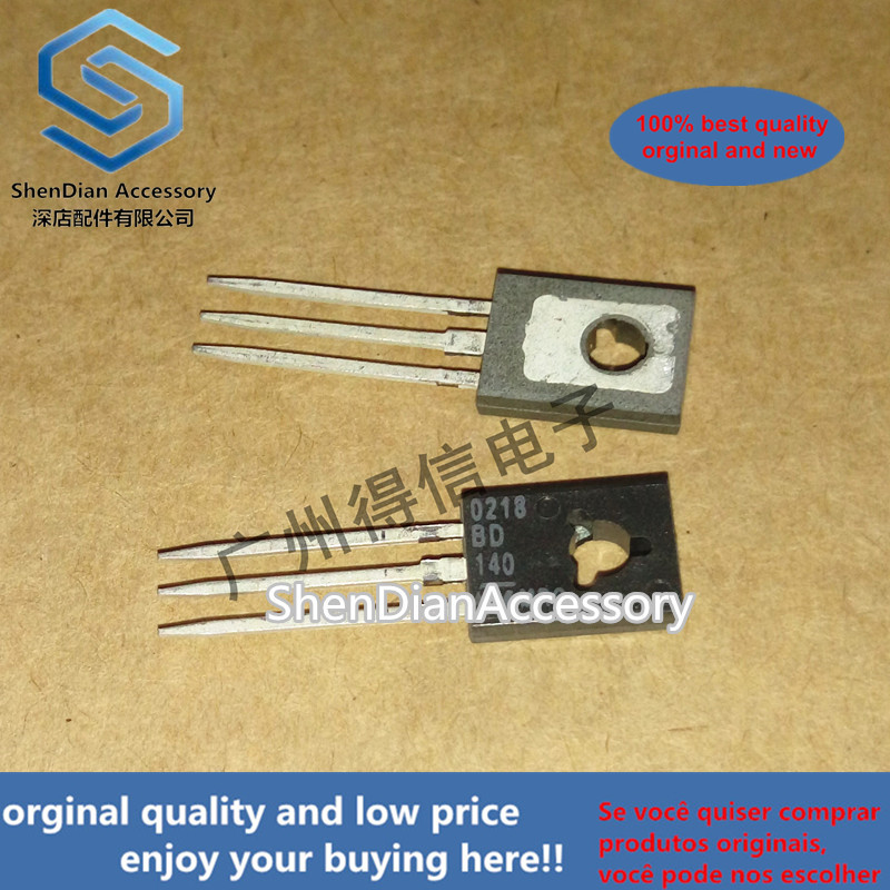10pcss 100% New And Orginal BD140 140 TO-126 PNP Power Transistors In Stock