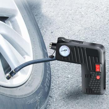 Portable Air Inflator Compressor Pump Tire LED 12V Safety Tyre Hammer Cordless For Motorcycle Electric Auto Car Bike