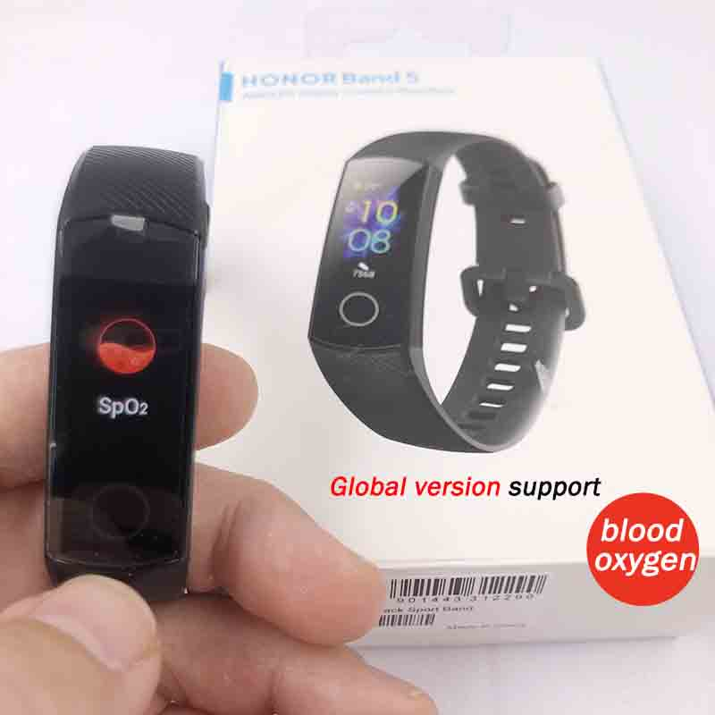 Huawei Honor blood oxygen monitoring smart watch or Smart Band including heart rate regulation and fitness sleep swimming sport tracker 5