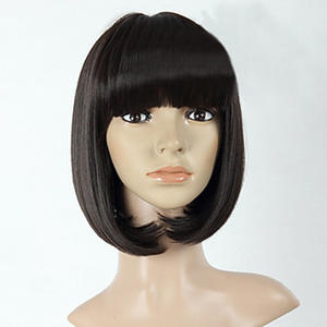 HAIRJOY Wig Short Synthetic-Hair Women Heat-Resistant-Fiber Straight Natural-Black 3-Colors-Available