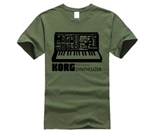 2019 Hot Sale KORG Synthesizer T Kemeja Vintage Moog Langka Sampler Analog T-shirt(China)
