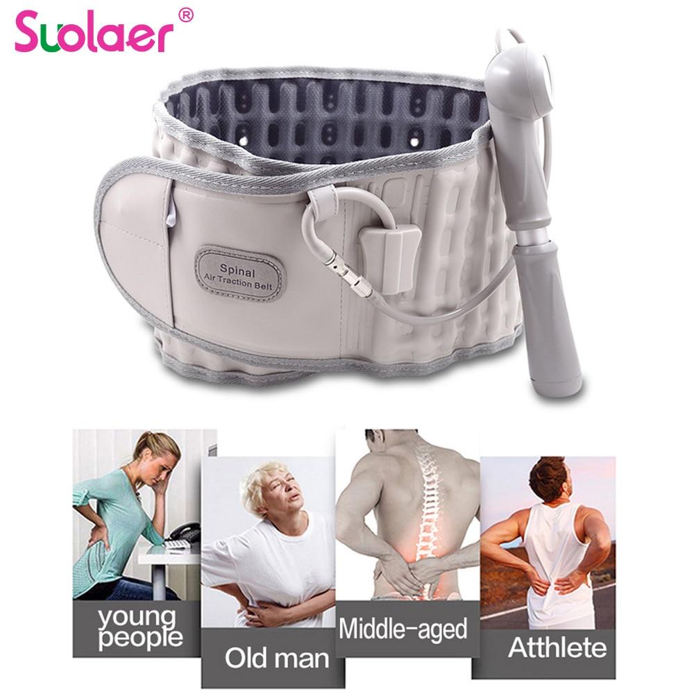 Family Unisex Back Relief Belt Waist Brace Support Belt Lumbar Traction Backach Waist Brace Pain Release Massager Health Care(China)