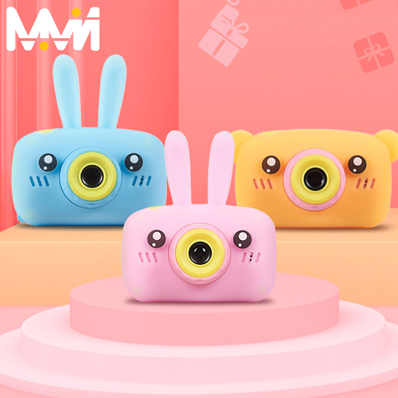 Child camera HD digital camera 2 inch cute cartoon Camera toys children birthday gift 1600w child toys Camera(China)