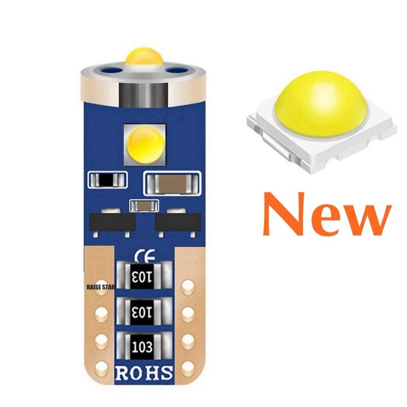 1 шт., сверхъярсветодиодный светодиодная автомобильная лампа T10 W5W WY5W 501 2825 168