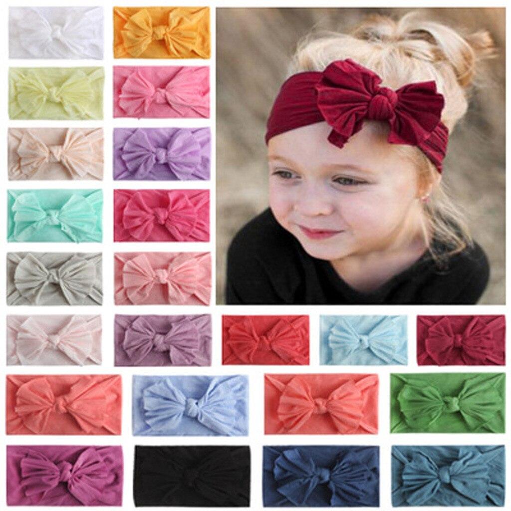 Acessórios para o cabelo do bebê sólido acessórios para o cabelo bandana arco headwears headbands para crianças coronet faixas de cabelo