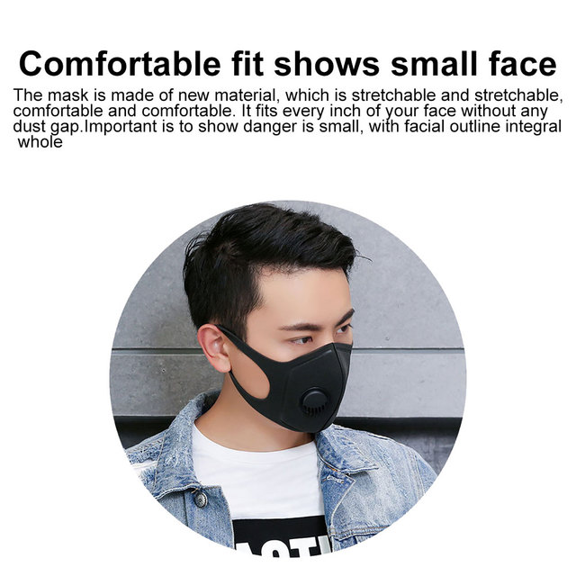 Pm2.5 cotton black mouth mask anti dust mask activated carbon filter windproof mouth-muffle flu-proof bacteria face masks care 3