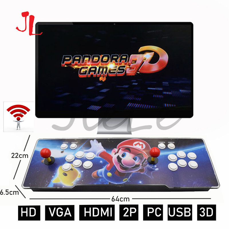 WiFi Pandora Game 2448 In 1 Arcade Video Game Console 2 Players Arcade Machine With 134 3D Games With WIFI Dowanland More Games
