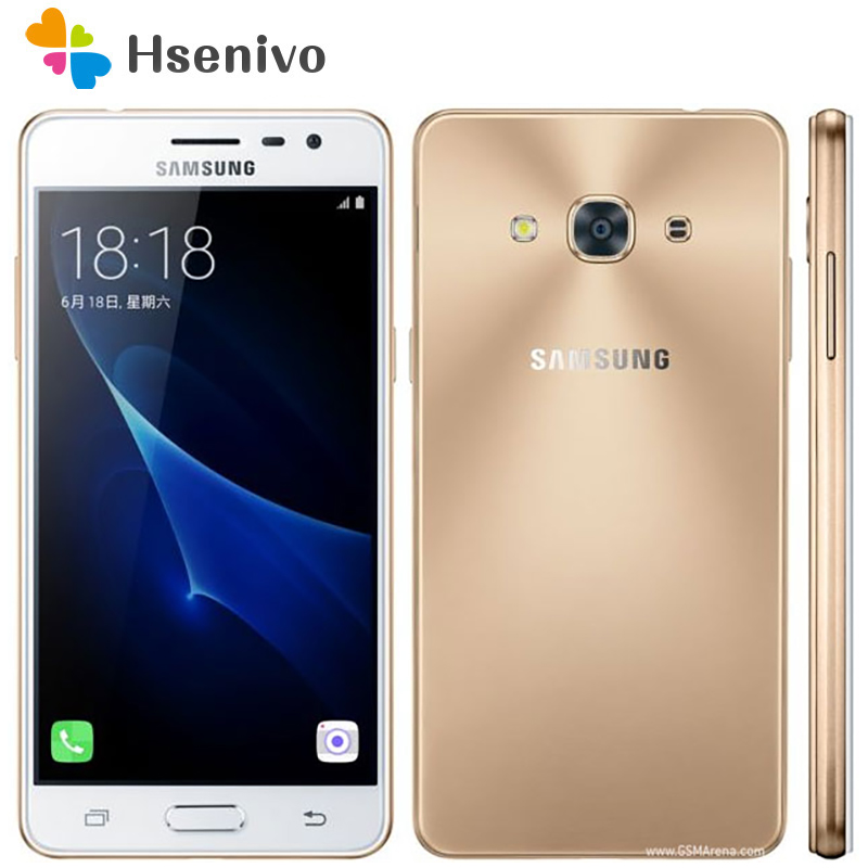 Samsung Galaxy J3 Pro Original Unlocked Mobile Phone 5.0″2GB RAM 16GB ROM Quad Core Dual Sim 8MP Camera J3110 Android Cellphone