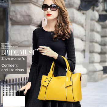 European And American Fashion Handbag Versatile Large Capacity Women's Bag Litchi Single Shoulder Straddle Bag Fashion Package