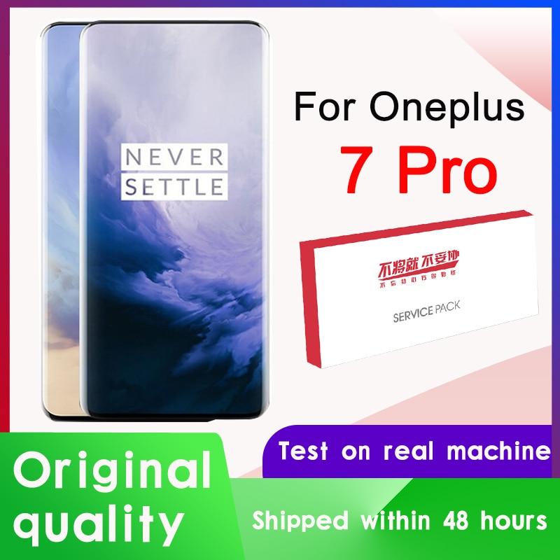 Оригинальный ЖК-дисплей 6,67 дюйма для OnePlus 7 Pro, AMOLED, дисплей кодирующий преобразователь сенсорного экрана в сборе для OnePlus 7Pro, ЖК-экран