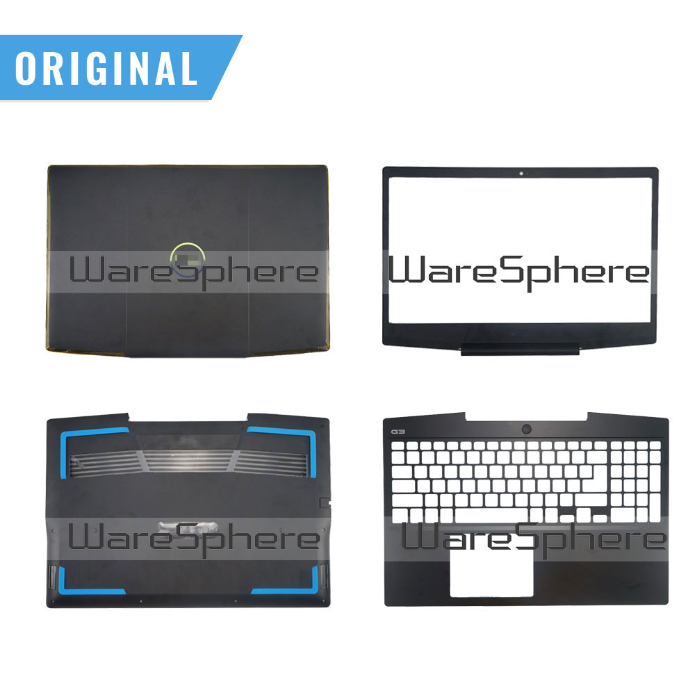 New Original for <font><b>Dell</b></font> 15 G3 <font><b>3590</b></font> LCD Back Bezel Palmrest Bottom Base Cover Case 0747KP 747KP 07MD2F 0P0NG7 0KV9X9 Black image