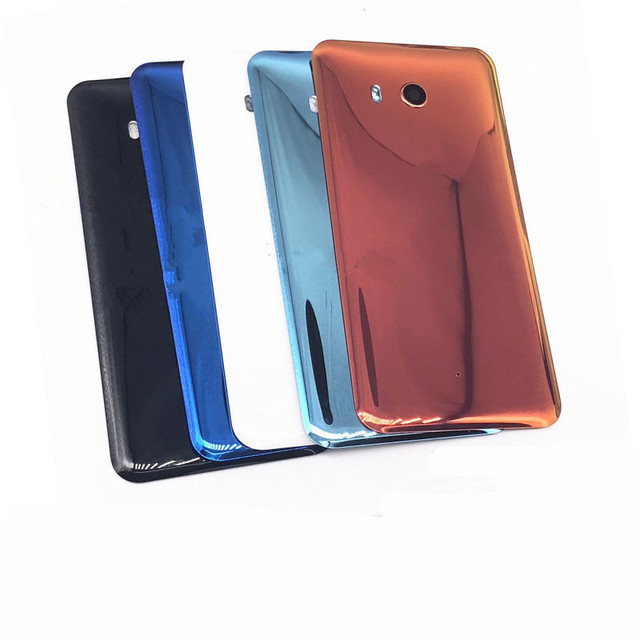 U 11 חזרה כיסוי עבור HTC U11 5.5 אינץ מקורי שיכון זכוכית אחורי דלת תיקון החלפת סוללה מקרה