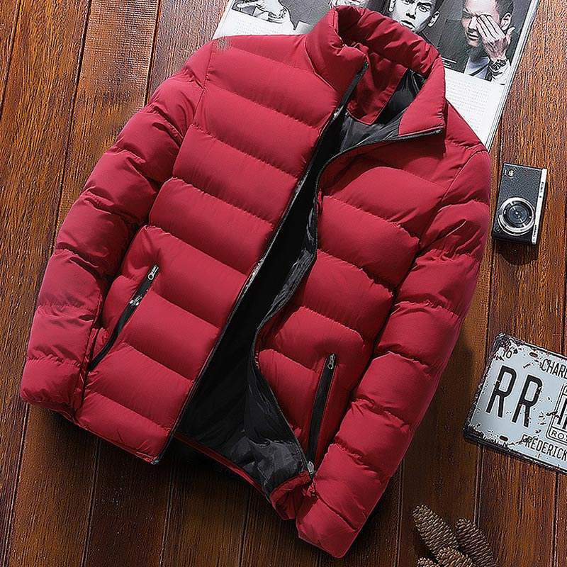 Autumn Winter New Jacket Fashion Trend Casual Thickened Warm Cotton-padded Clothes Slim Baseball Coats Size  Warm Jacket
