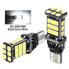 2PCS 30-SMD T15 W16W LED CANBUS Auto Reserve Backup Lichter Lampe KEIN FEHLER Schwanz Lampe Für Lada Granta Niva priora Kalina Xray Vesta