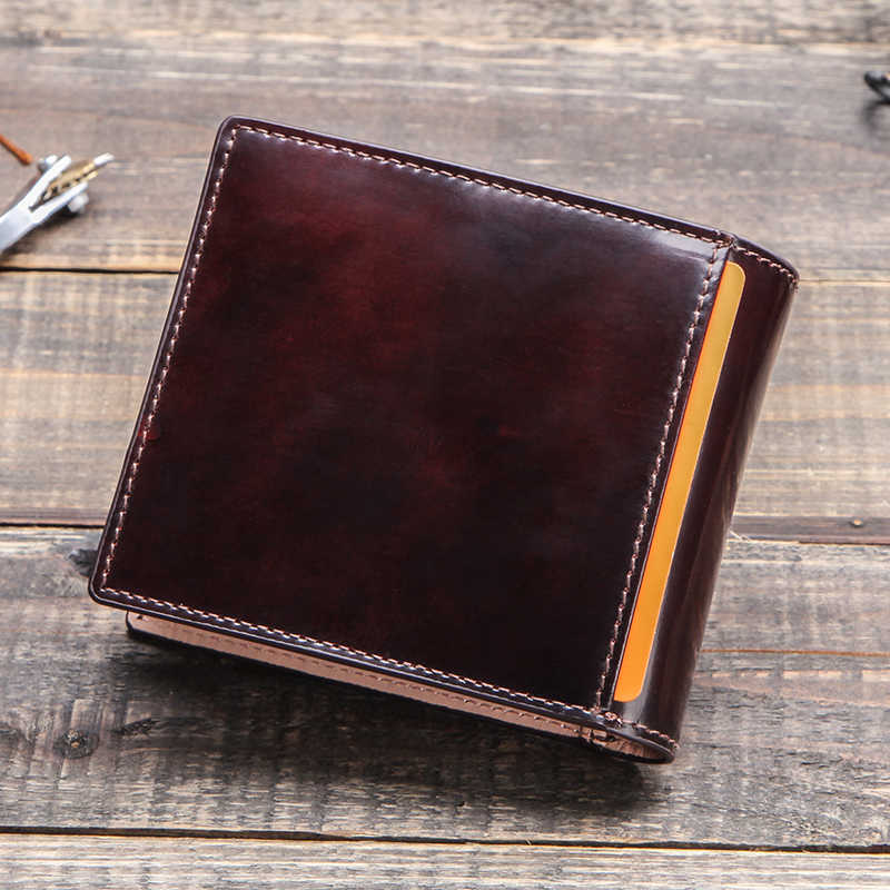 CONTACT'S แปรง-off กระเป๋าสตางค์หนังผู้ชาย VINTAGE Bifold กระเป๋าสตางค์เงินชายกระเป๋ากระเป๋าถือหนังวัวแท้ 2020 portfel