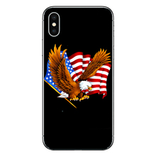Case For Apple iPhone 7 8 XS Eagles Flag of United States American printing for 6 6S Plus X R XSMAX 5S Cover