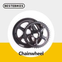 Bafang 8fun 44t/46t/48t/52t chainwheel para bbs01 bbs01b bbs02 bbs02b 250w 350w 500 750w mid drive motores ebikes conversão