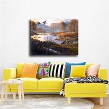 Fuwatacchi пейзаж масляная живопись красивый пруд настенные