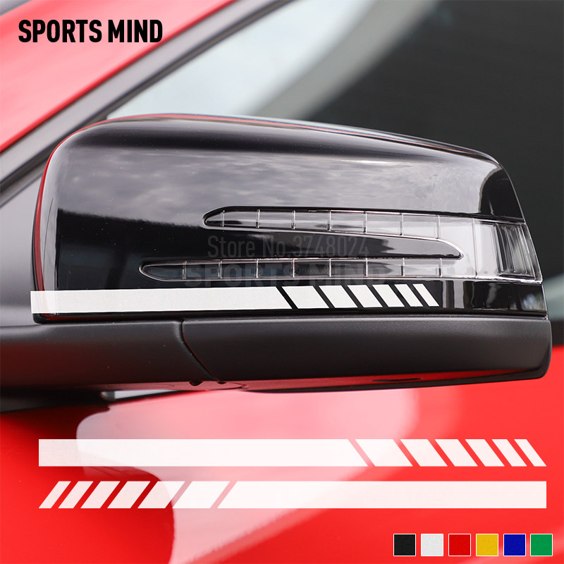1 Pair Vinyl Stickers Decals For <font><b>Mercedes</b></font> <font><b>Benz</b></font> W203 W205 W204 W211 W212 W117 W176 <font><b>W210</b></font> AMG <font><b>Accessories</b></font> Car Styling Automobiles image