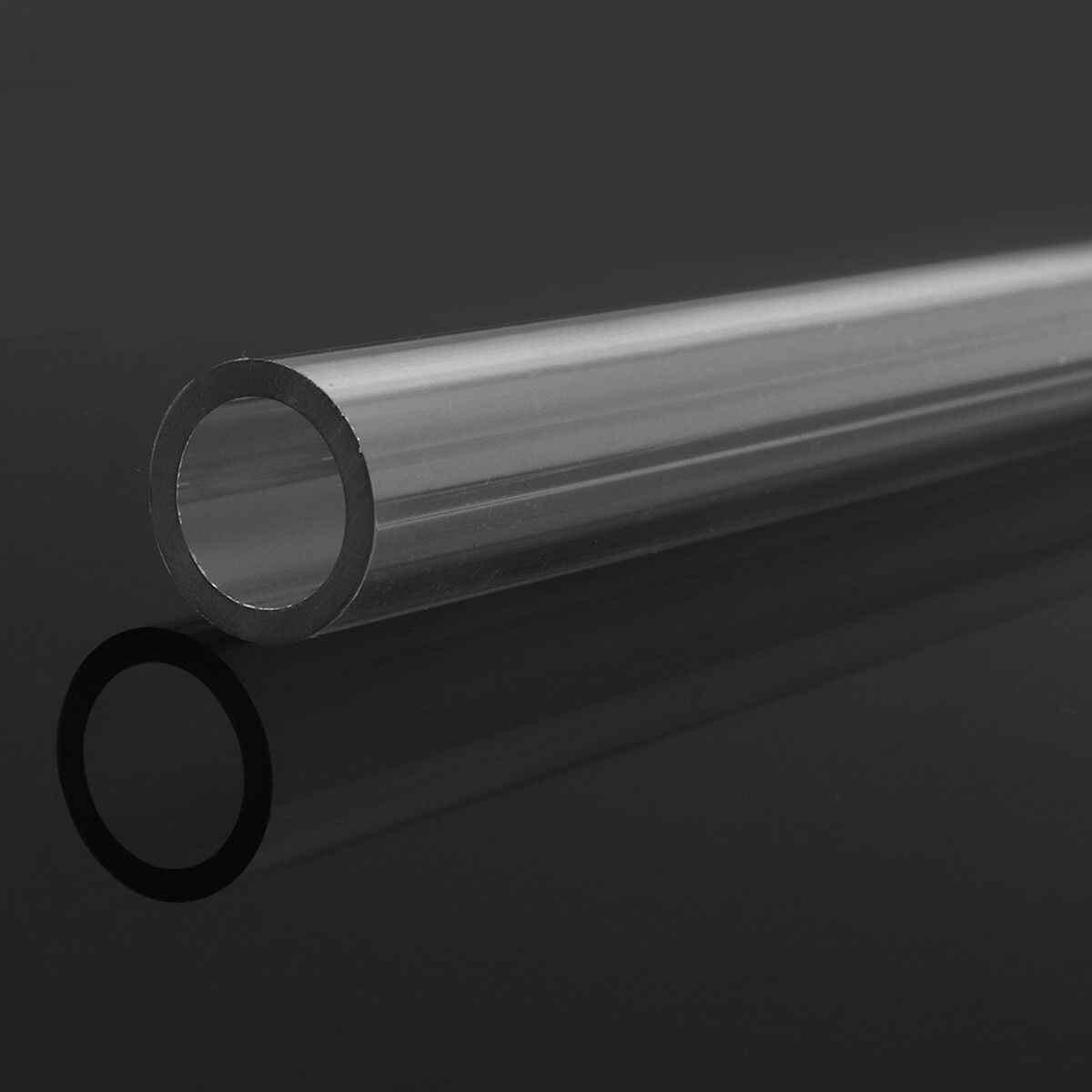 4Pcs 50 CENTIMETRI Trasparente PETG Tubi Duro Rigido Tubi 10mm/14mm Trasparente di Curvatura Tubi Tubo Duro per acqua computer sistema di raffreddamento
