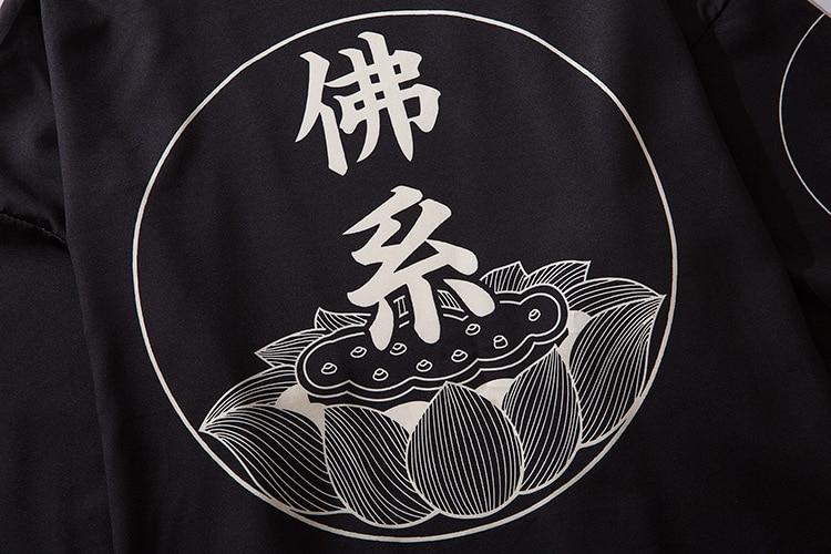 Camisa dos homens cardigan blusa homens yukata