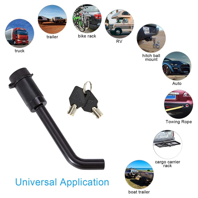 NEW-Trailer Hitch Receiver Lock, Elbow Hitch Lock, Suitable for Type I, II, III, IV and V Type Hitch